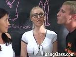 [:en]Nasty Student And Teacher Sharing A Cock In A Hardcore Threesome Action[:]